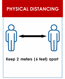 Physical Distancing Sign: Keep 2 meters apart